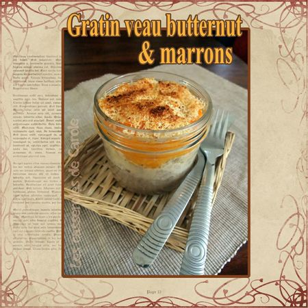 Gratin veau butternut marrons (scrap)