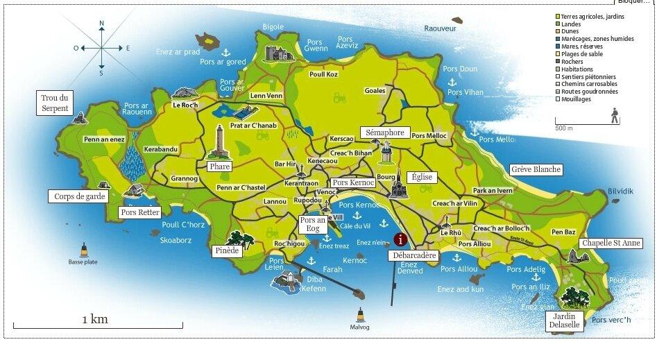 carte ile de batz L'ILE DE BATZ ( Finistère)   En route pour ..