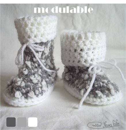 chaussons bebe bottes 07