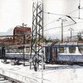Train au départ de budapest