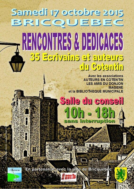 Affiche Rencontres et dédicaces Bricquebec 2015