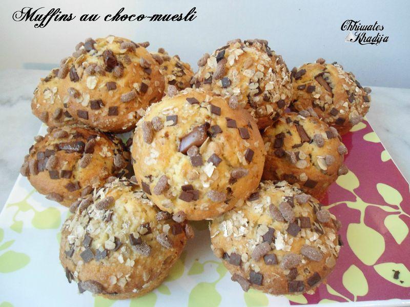 Muffins choco muesli