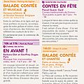 Programme du 18 août pour le festival de l'écho des mots