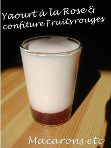 Yaourt Rose & fruits rouges