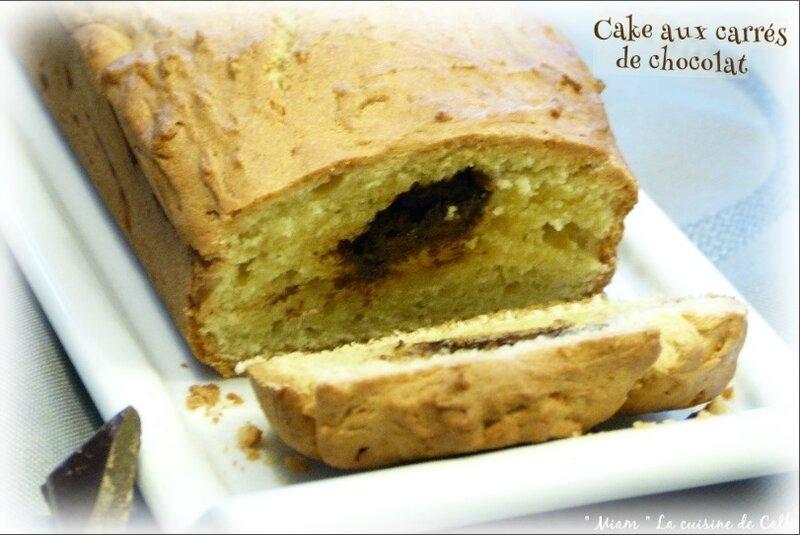 cake carrés choco