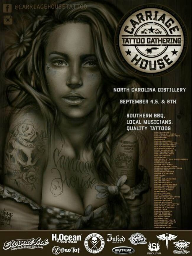 Carriage House Tattoo Gathering actions 43Awesome 02 - 04 Septembre 2016