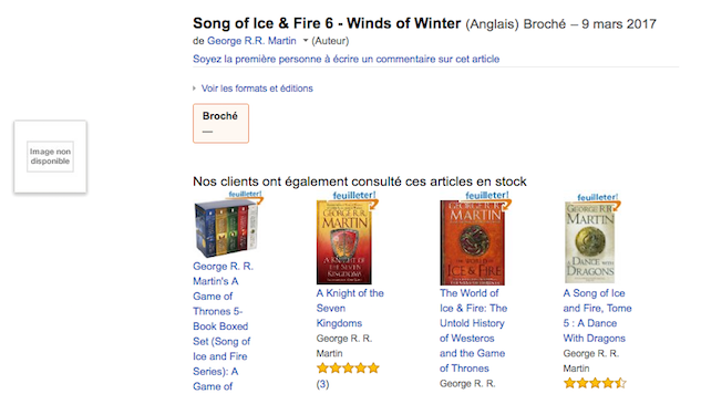Winds of Winter Amazon France Main