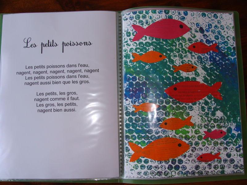 Les petits poissons dans l 39 eau ribambelles - Le petit poisson rouge maternelle ...