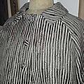 Veste VICTORINE en toile polyester zébré - doublure de satin noire (4)