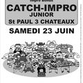 Affiche Catch-Impro Jr 23