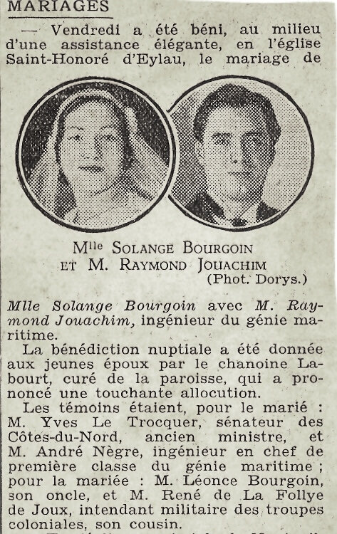 1932 09 30 mariage Solange Bourgoin (1)