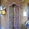 Porte de chambre d'une guest house