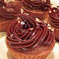 Cupcake purée de noisette et sa ganache chocolat café