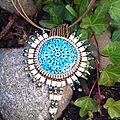 Vallauris serti et tila beads