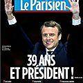 Macron président, les unes