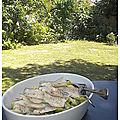 Eglefins et courgettes