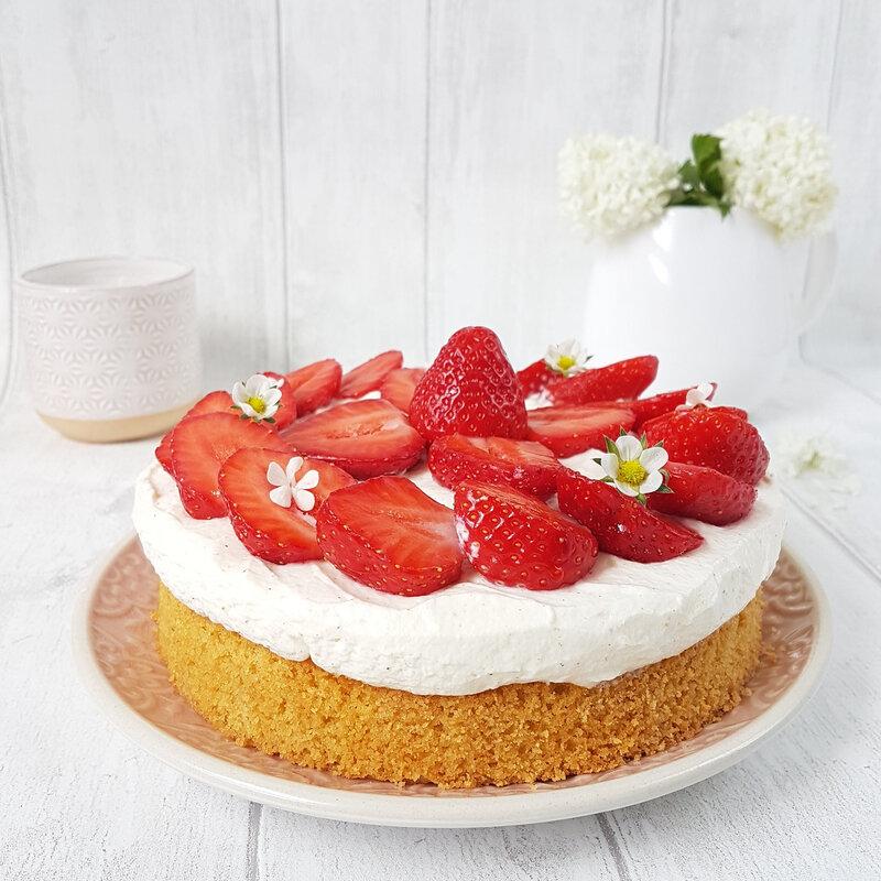 tarte aux fraises cathytutu mercotte sablé breton fraises clery chantilly facile rapide