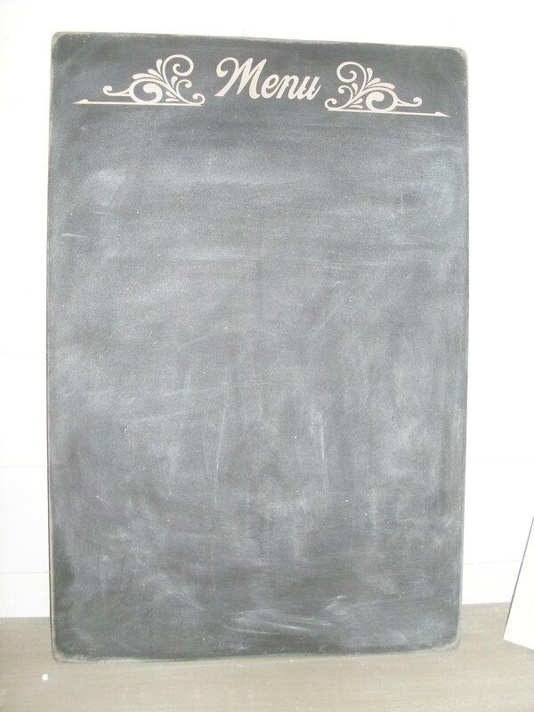 paneau ardoise menu 90x60 cm
