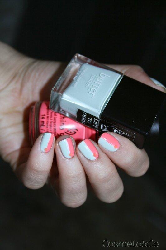 fluo géométrique nail art-3