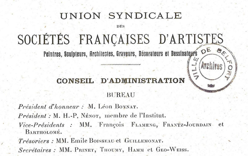 1919 12 10 Union Syndicale Artistes Programme type 3R
