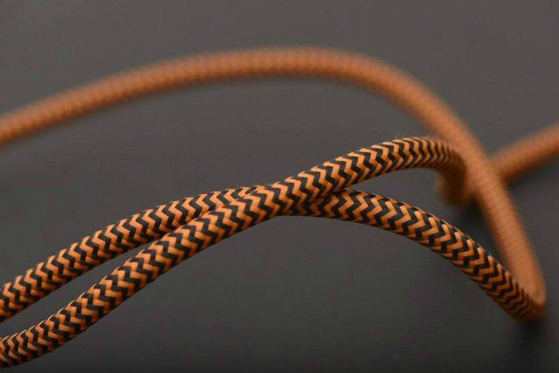 cable tissu bi orange