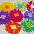 fabriquer des fleurs en plastique ....