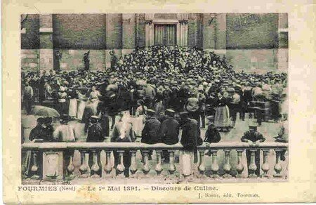 histoire_de_Fourmies_8___le_1er_mai___Discours_de_Culine_devant_l__glise