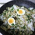 Kedgeree de restes au curry vert