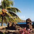 baie d'Hathiheu , tiki sur la plage_01