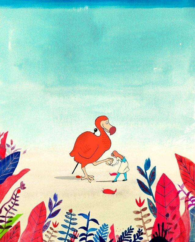 Petite alive aux merveilles illustration dodo