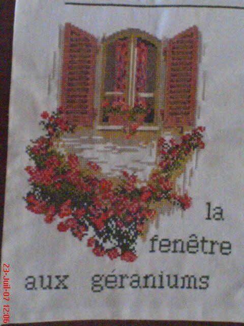 La fenêtre au géranium