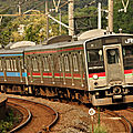 JR 121系 Local train, Kokubu station