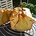 Cake aux poires entières et au beurre de pomme