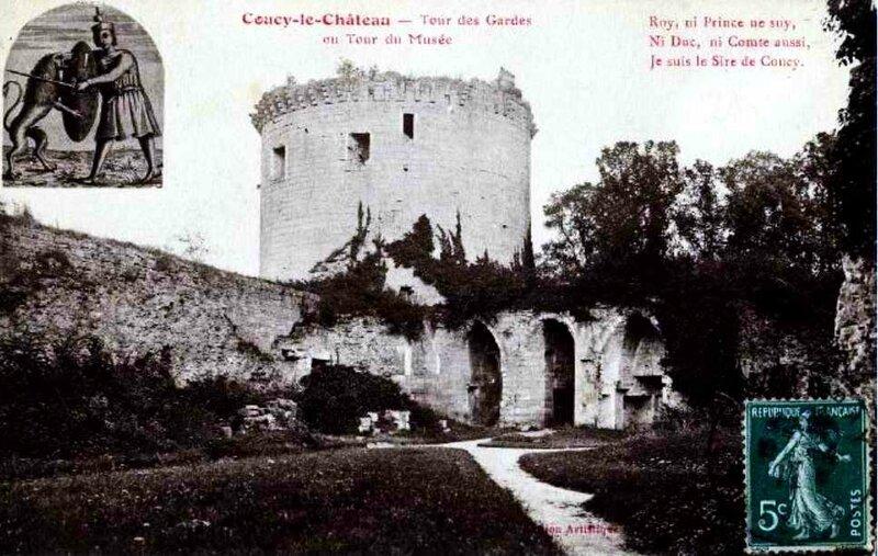 Coucy chateau tour des gardes