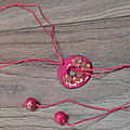 collier réglable rose