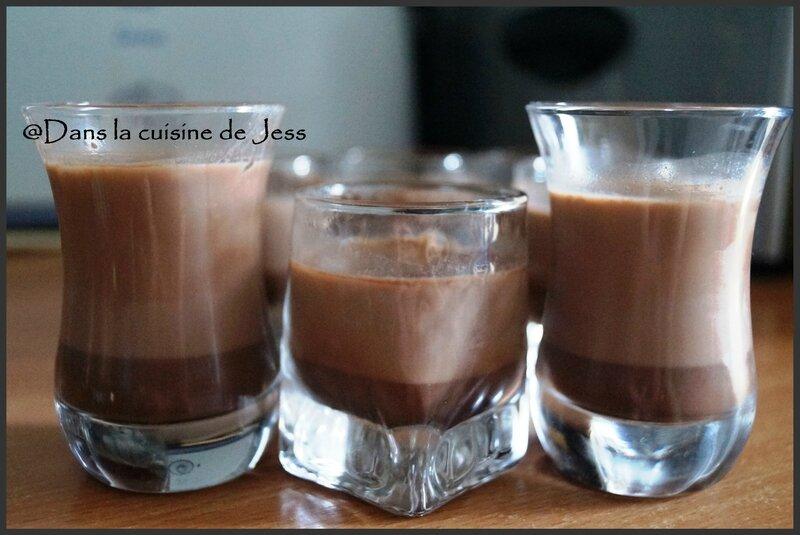 Lait gélifié au cacao