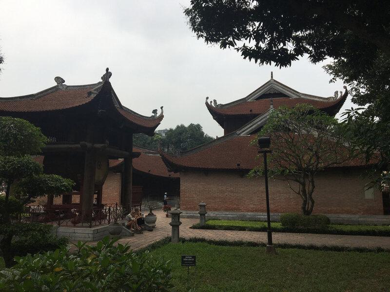 Les superbes structures du temple de la Littérature