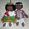Couple de poupées en chiffon