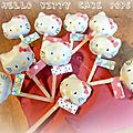 Hello kitty cake pops - version 2 -