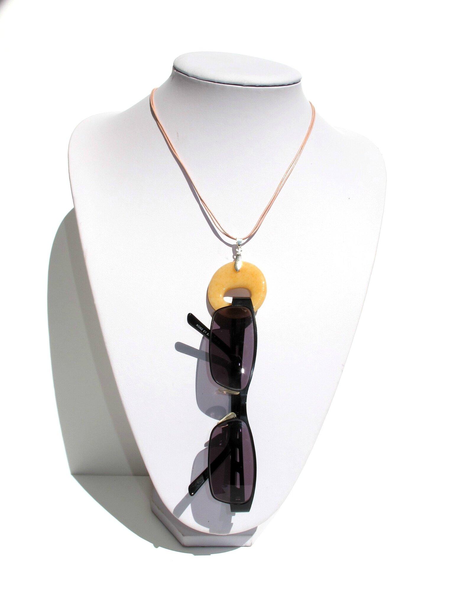 collier porte lunettes sable orange lunettes