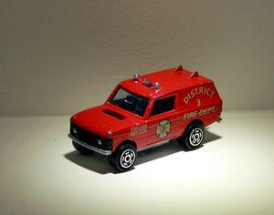Range rover tolé pompier de chez Majorette 01