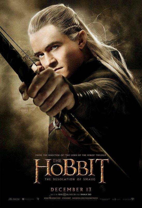 The Hobbit Desolation of Smaug Legolas poster