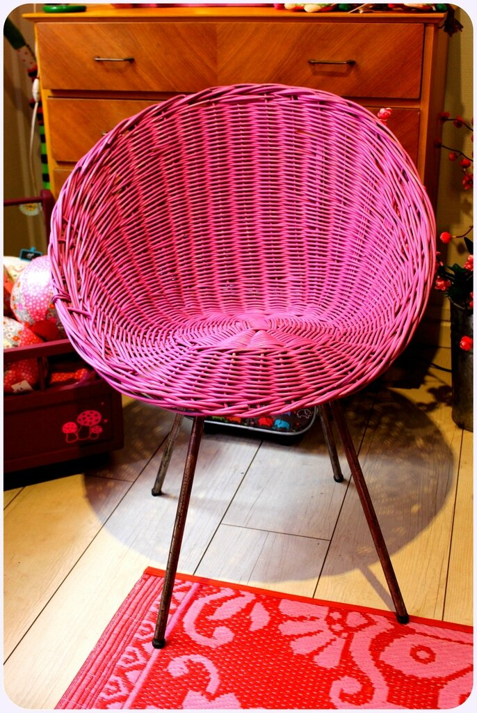 chaise 50'rose