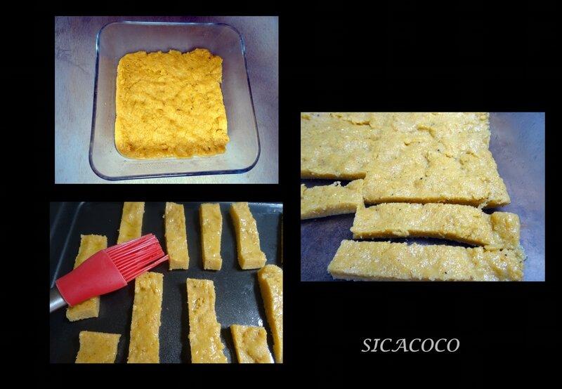 frites de polenta et paleron braisé