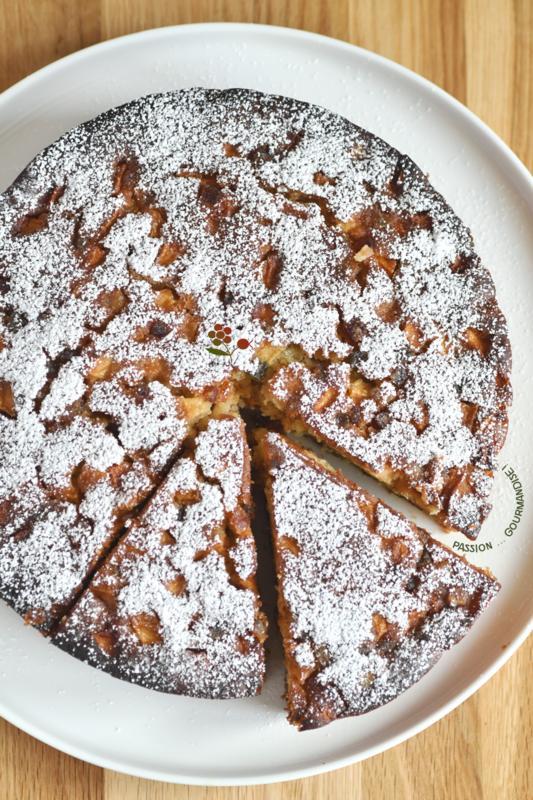 Gâteau chocolat blanc, Ricotta, pommes & fruits confits_2