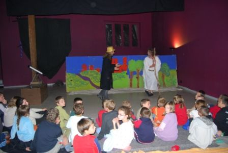 spectacle de jules verne et de Merlin