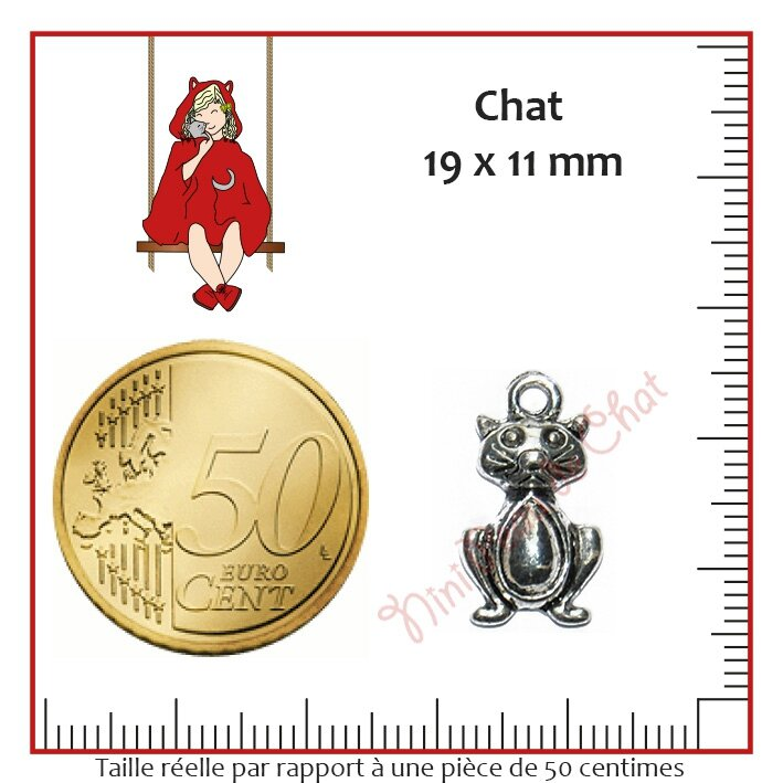 Chat 19 x 11 mm