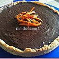 Tarte chocolat/ orange