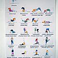 affiche yoga papier photo - VENDUE