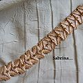 bracelet triangles beige
